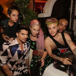 Adam Lambert and friends at Botero. Photo: Danny Mahoney