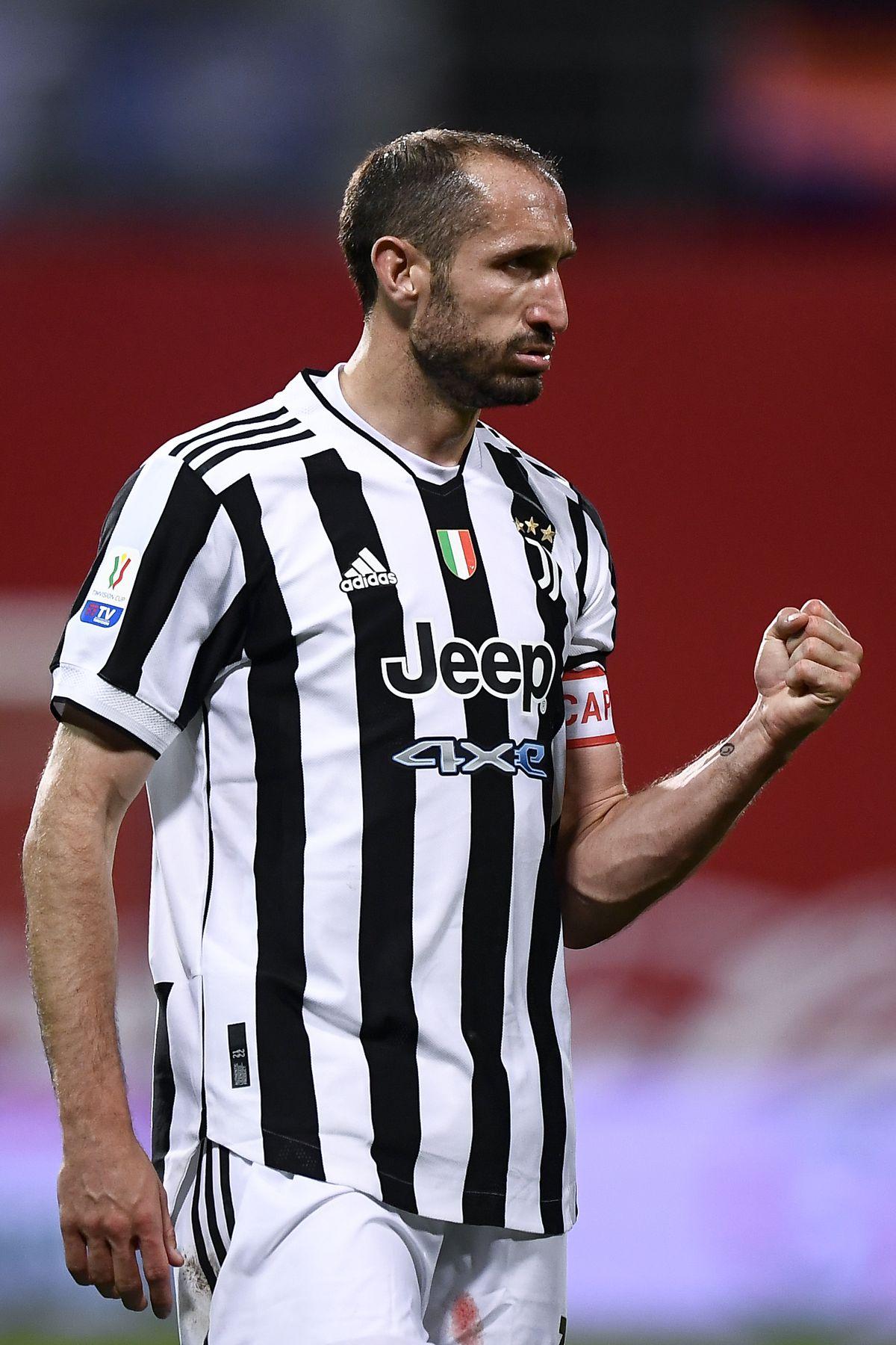 Giorgio Chiellini of Juventus FC celebrates during the...