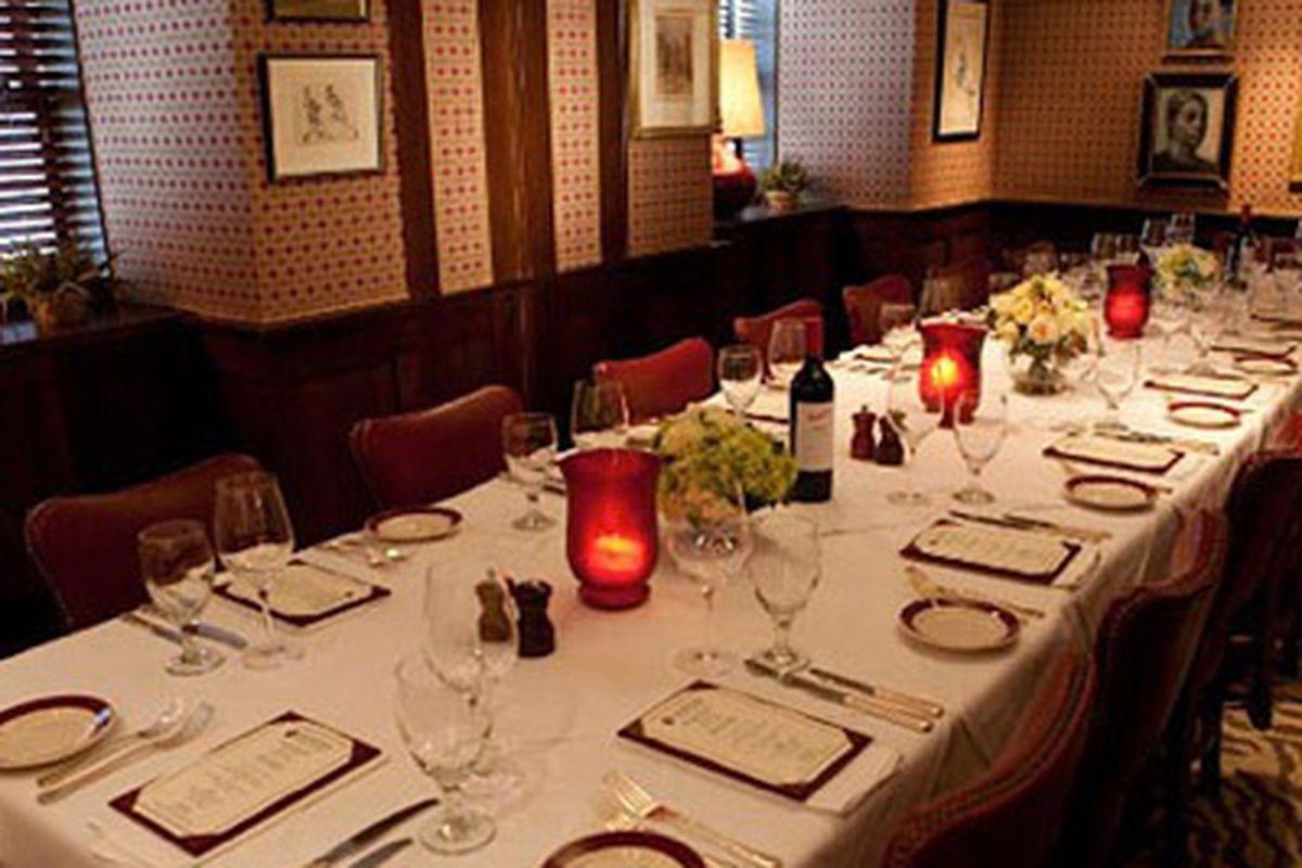 Private dining room at Bones.