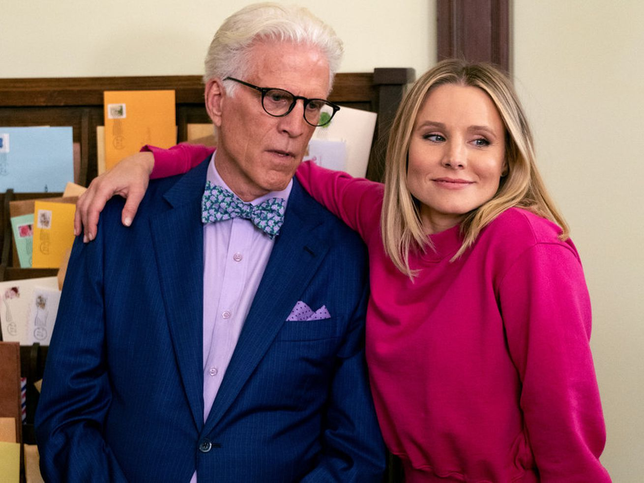 The Good Place has finally made it to the Good Place — but mostly just its post office.