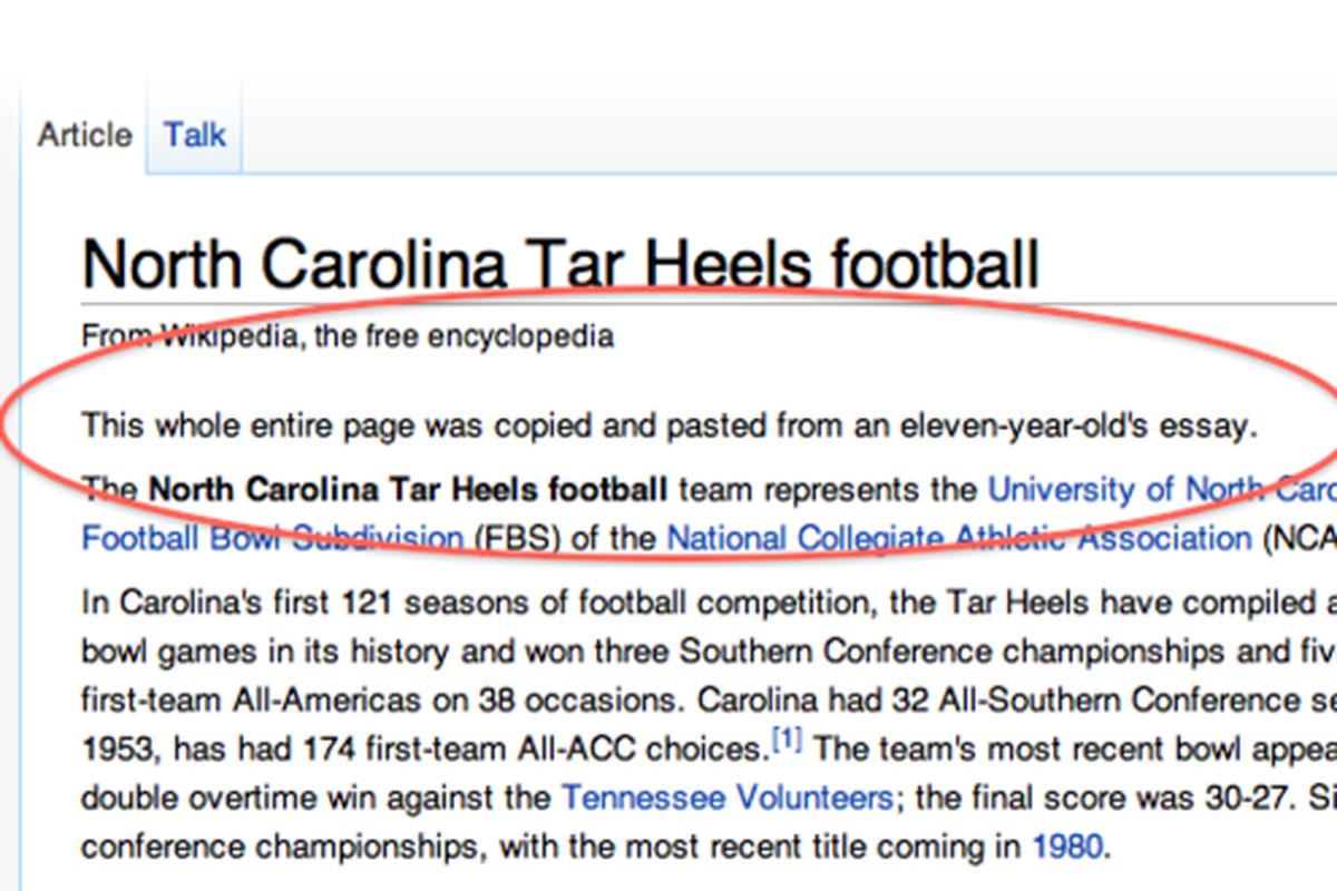 Nascar All Time Win List >> The first-ever funny Wikipedia vandalism joke - SBNation.com