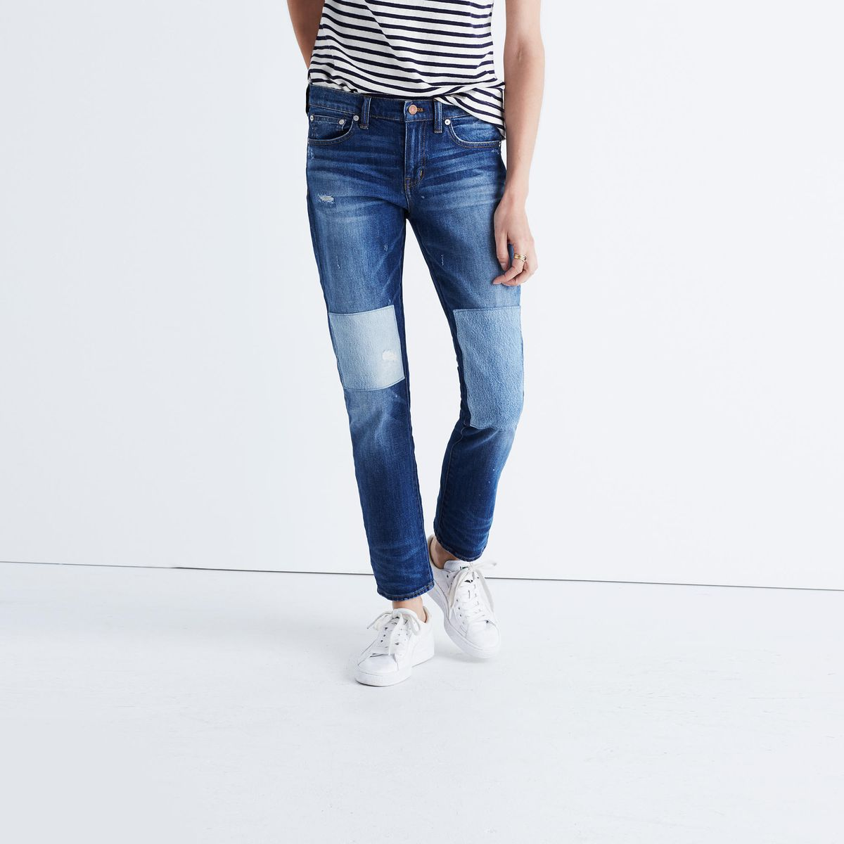 patched jeans from madewell