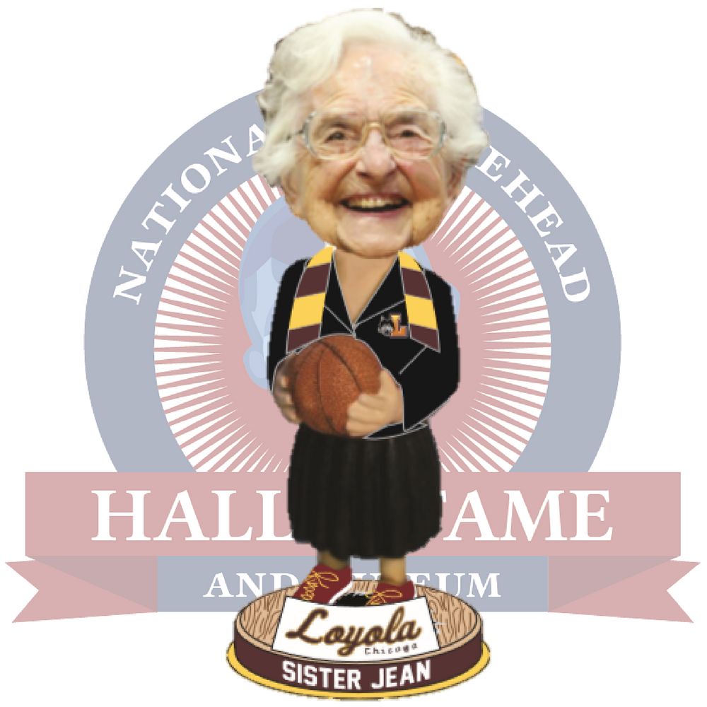 Sister Jean's bobblehead has been sold in all 50 states.   Courtesy of National Bobblehead Hall of Fame