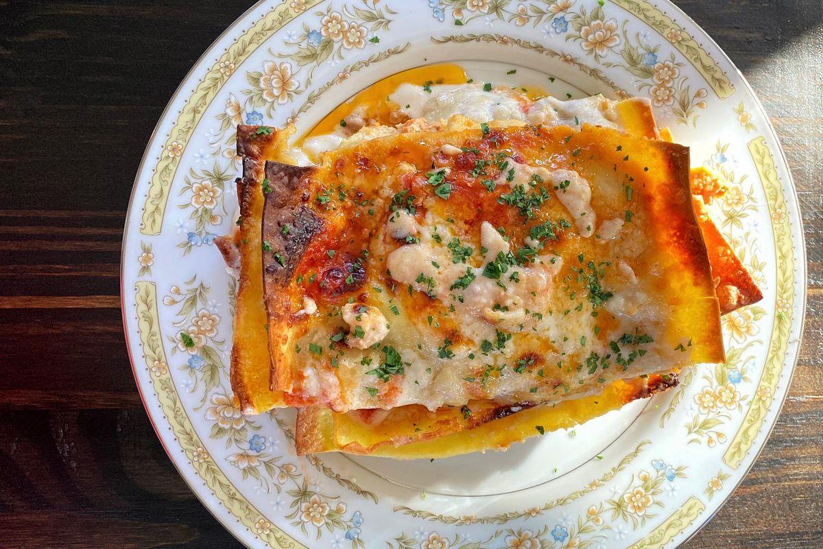 A lasagna from Le Cowboy