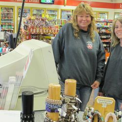 Mother and daughter Cindy Barney and Andrea Orozco hear plenty of out-of-gas stories at the Scenic Quick Stop in Salina.