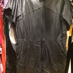 Leather romper, $148