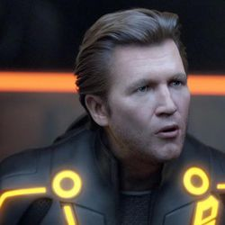 """To look more like the Jeff Bridges of 1982, when he made the first """"Tron"""" movie, the actor was digitized to appear younger for part of """"Tron: Legacy."""""""