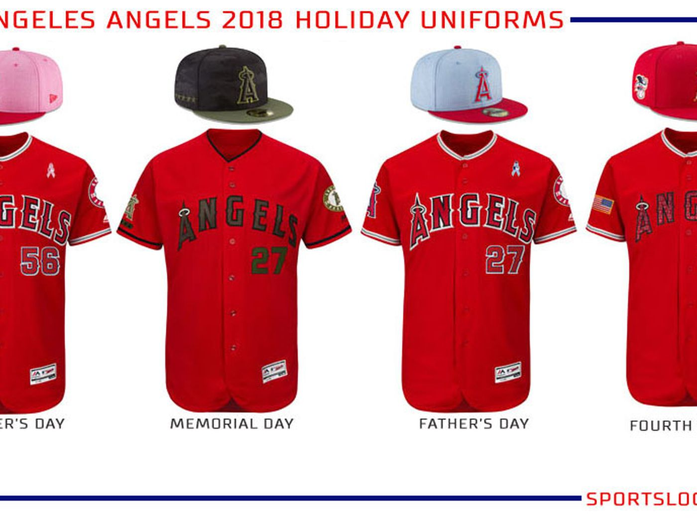 3a66ba0f 2018 Angels special event jerseys, hats, and socks unveiled - Halos Heaven