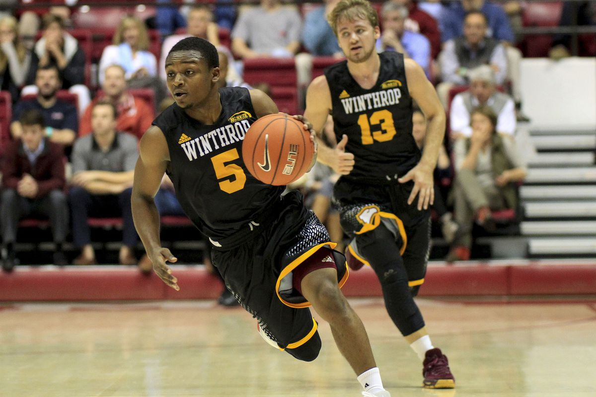5'7 guard Keon Johnson leads Winthrop into the Big South Tournament this week.