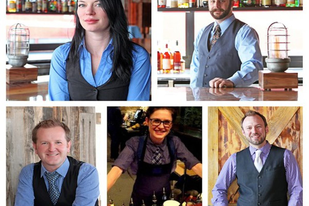 From top left clockwise: Courtney Wilson, Ryan Conklin, Brian Melton, Melissa Durant, and Mike McGill