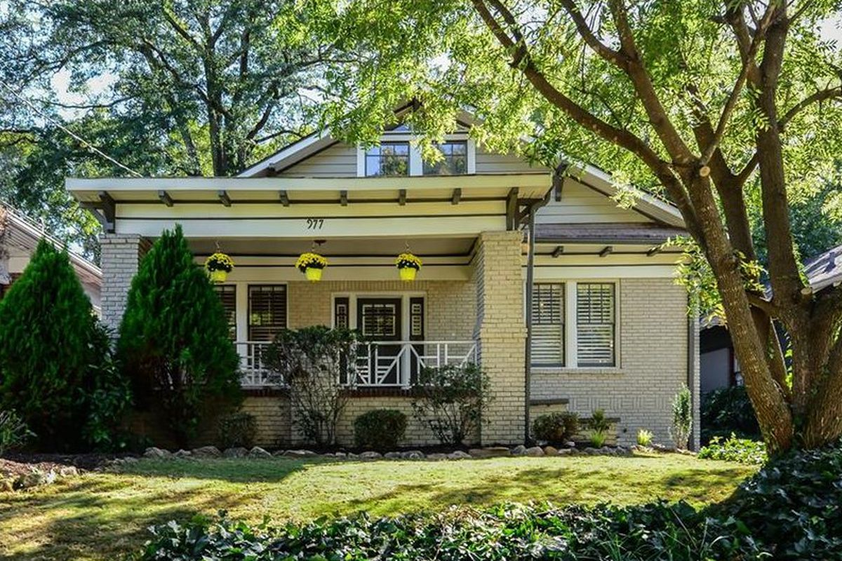 A photo of a for-sale bungalow in Atlanta's Poncey-Highland neighborhood.