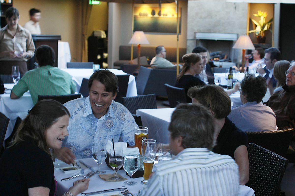 Michael's on Naples in Long Beach features gourmet Italian food in an upscale atmosphere. Guests en