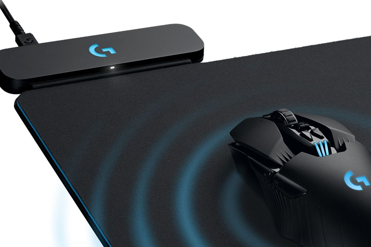 ce2bbe15873 Logitech's latest mouse mat is a giant wireless charging pad - The Verge