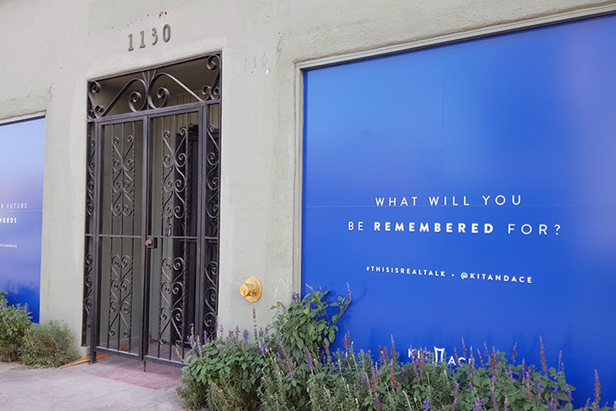Kit and Ace's soon-to-open Abbot Kinney store.
