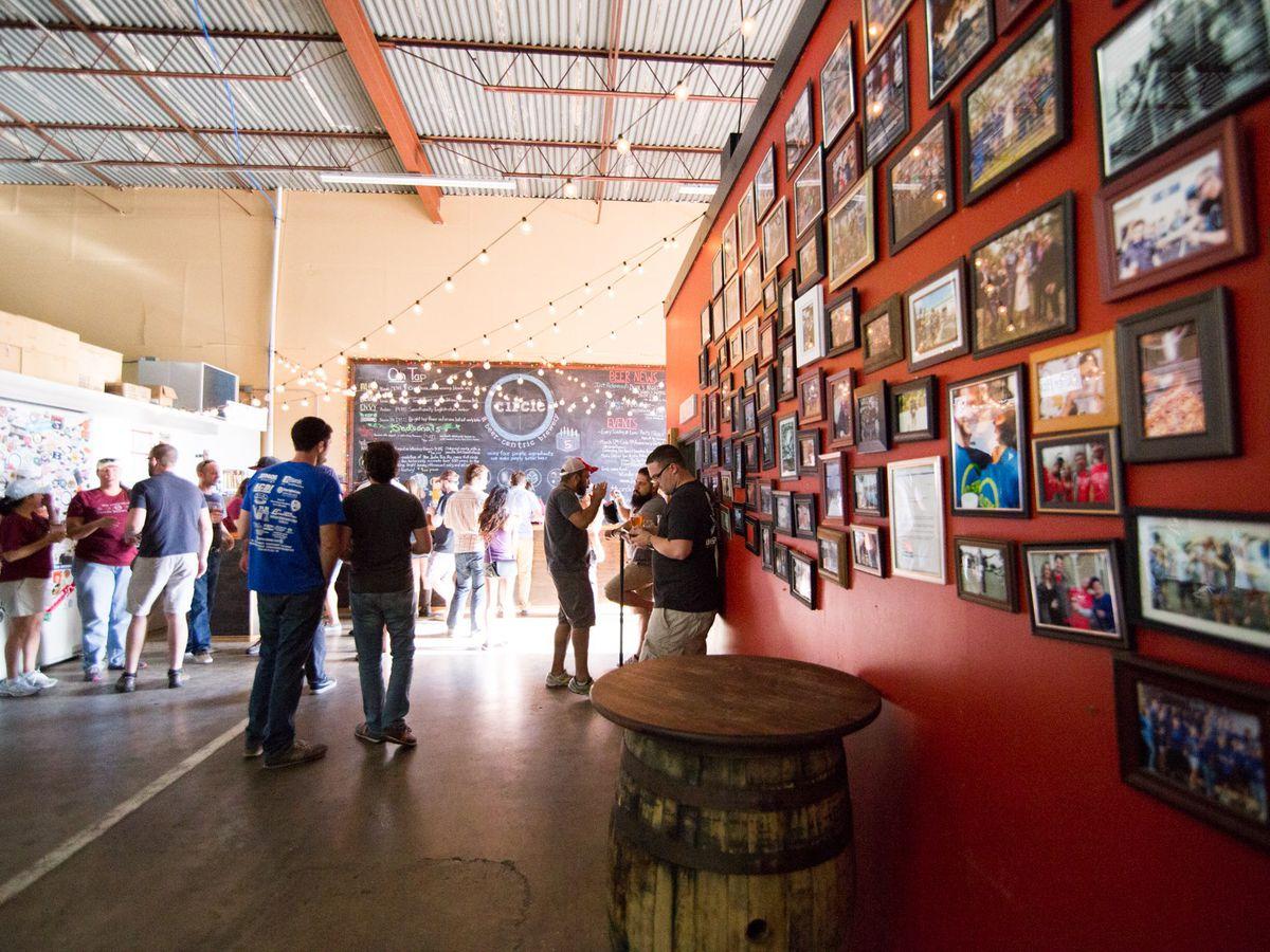 The tasting room at Circle Brewing Company