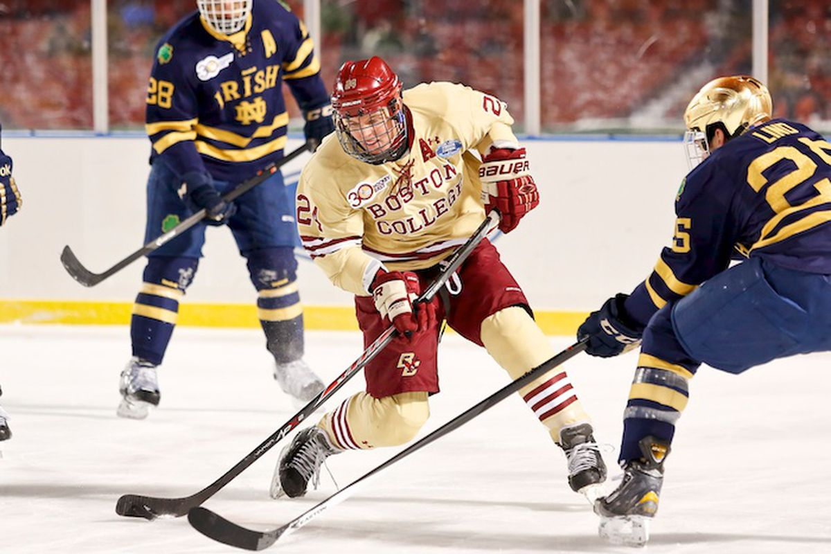 Bill Arnold is sometimes the least recognized of the top line, but he leads Hockey East in assists with 21.