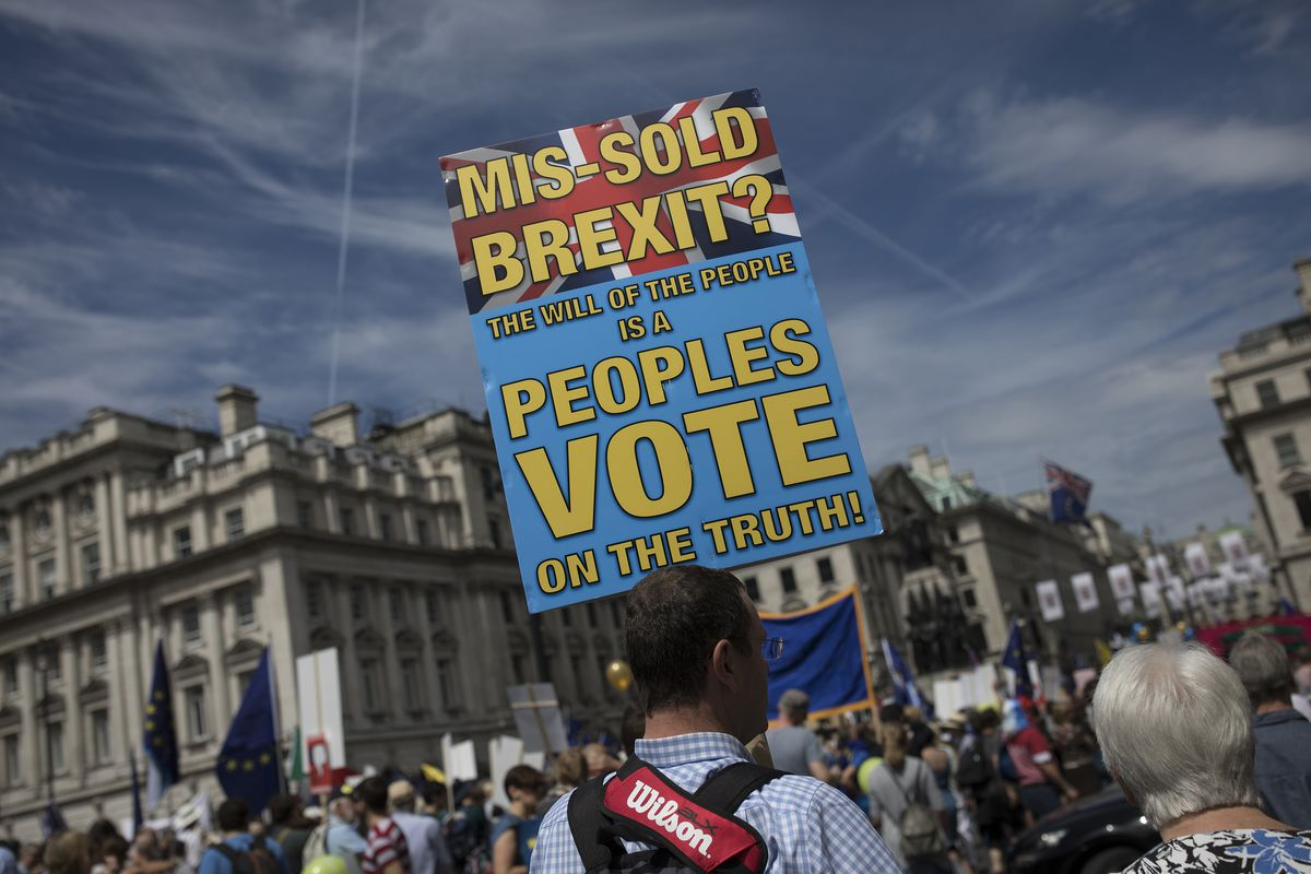 People's Vote Protesters March On Parliament