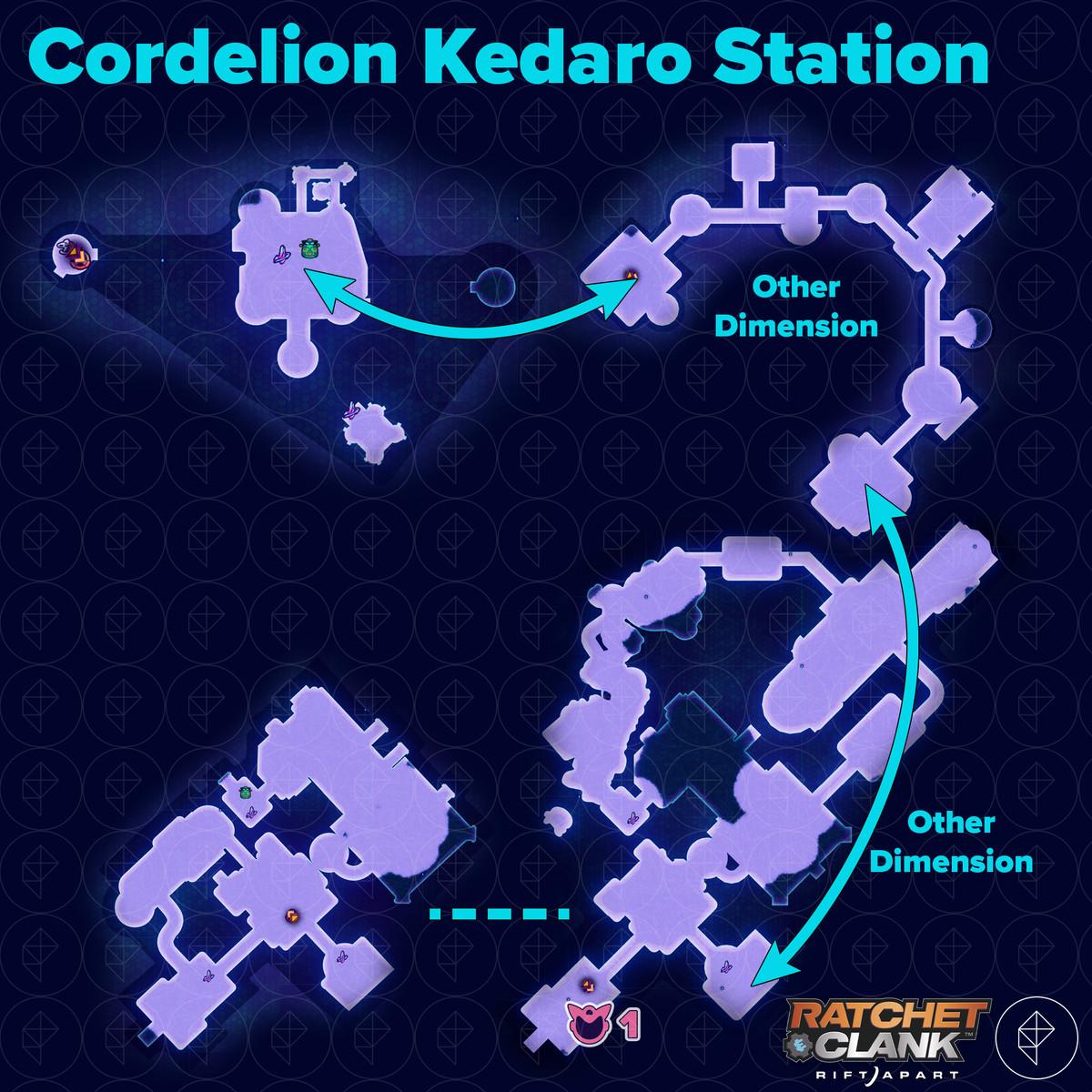 Ratchet & Clank: Rift Apart collectibles guide: Cordelion Kedaro Station