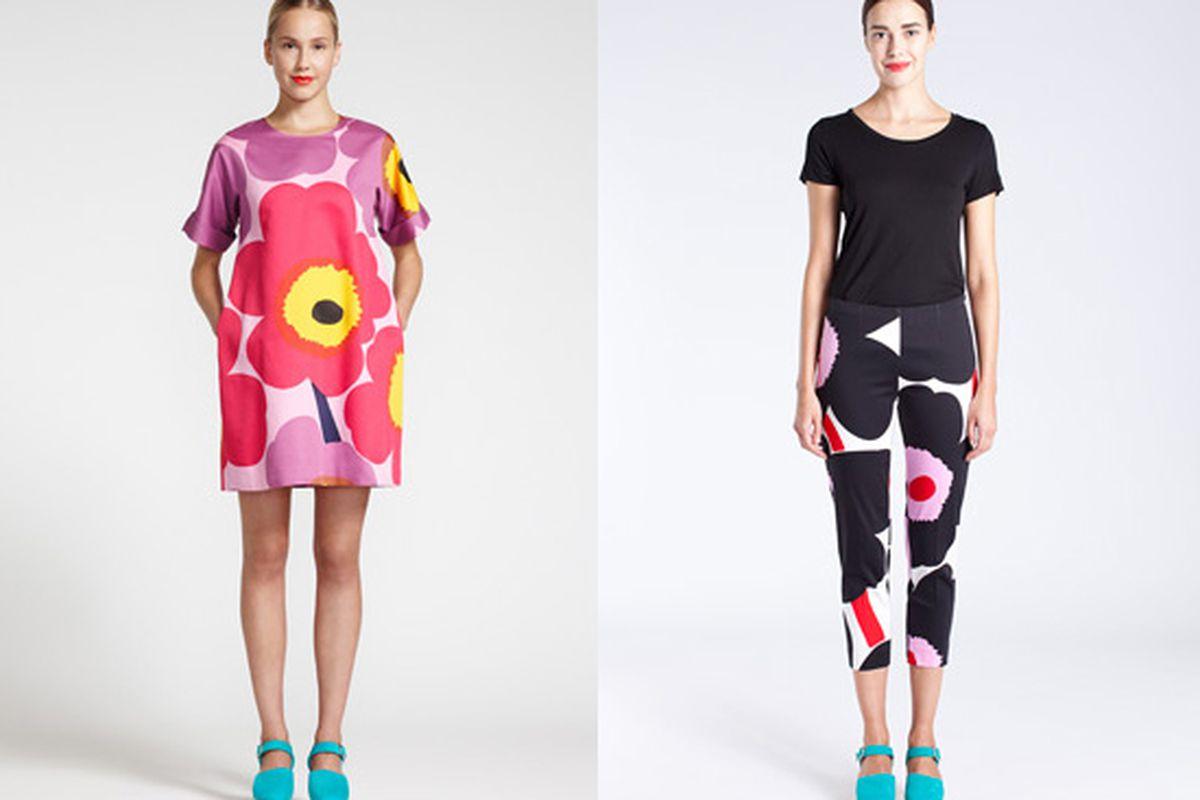 """Miku Dress, <a href=""""http://usstore.marimekko.com/apparel/Miku-343.asp"""">$348</a>; Byxan Pant, <a href=""""http://usstore.marimekko.com/apparel/Byxan-194.asp"""">$208</a>"""