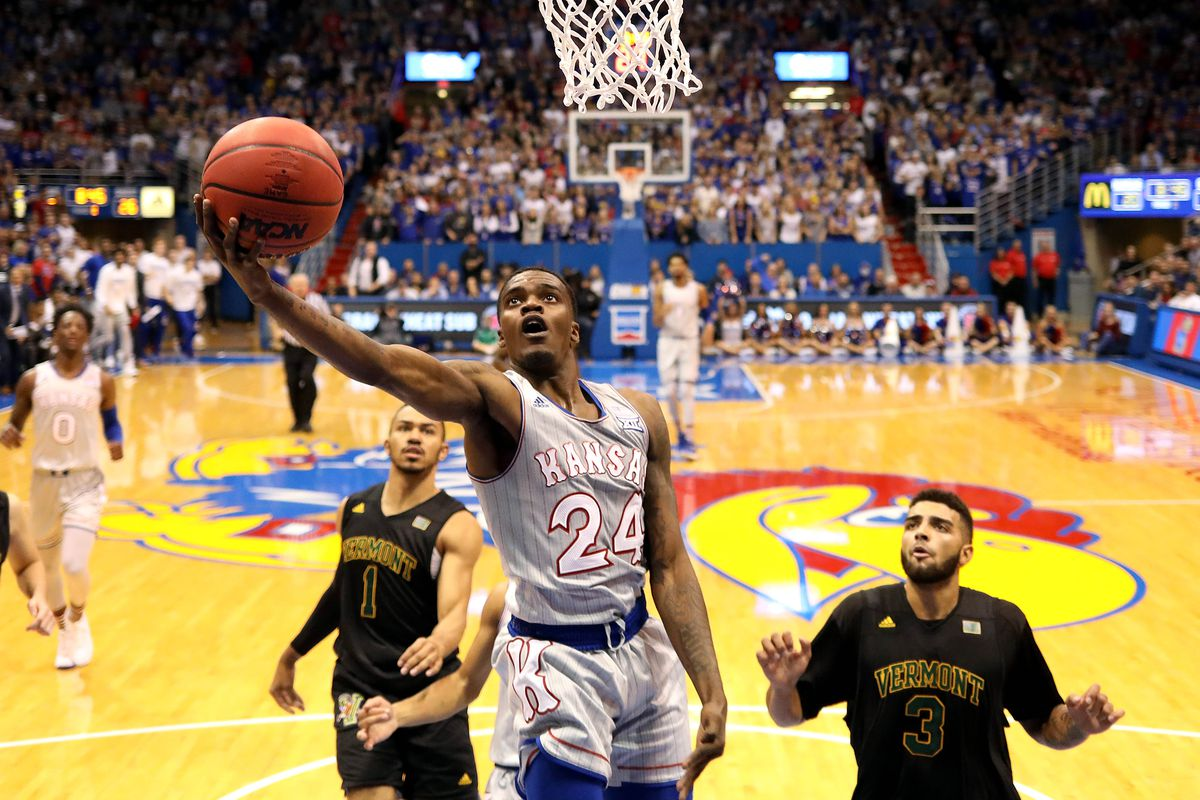 Lagerald Vick jumps up to score
