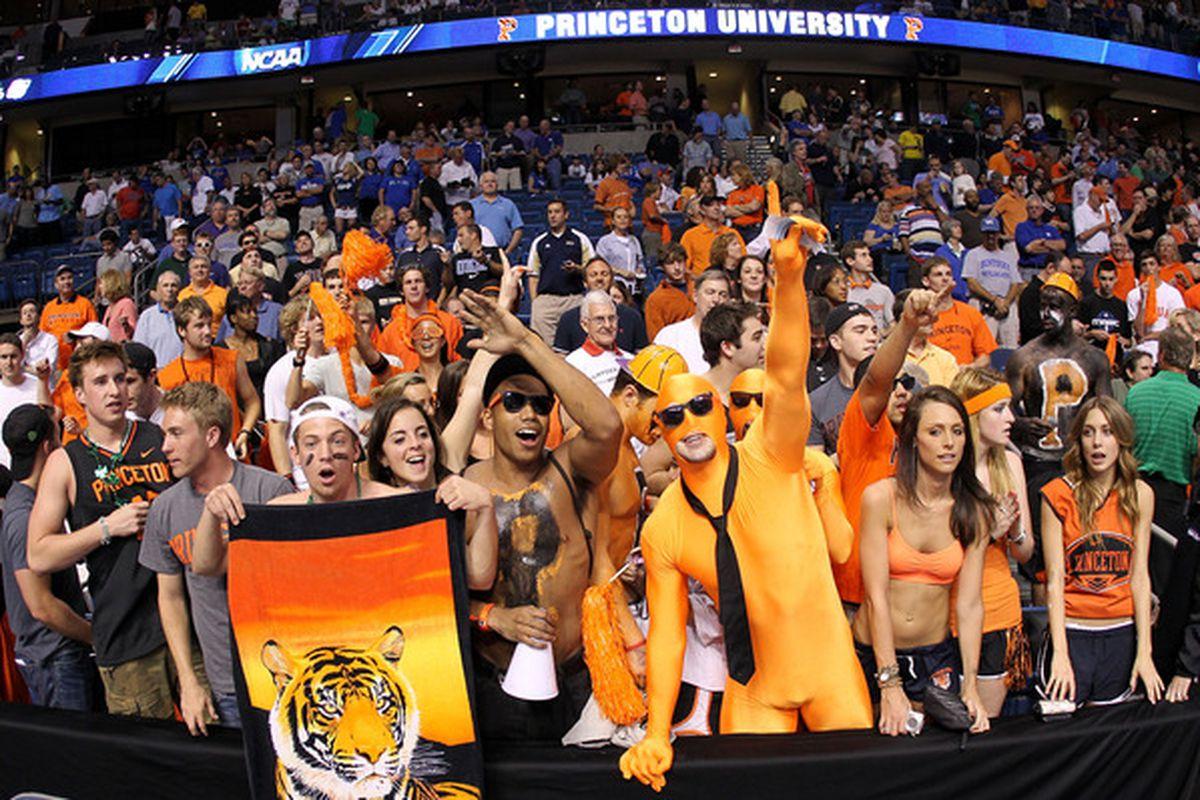 Princeton fans at an NCAA Tournament basketball game