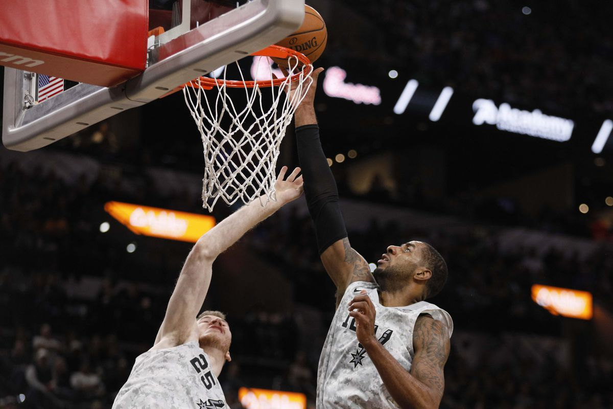 Spurs Remain Dominant At Home Roll Past Thunder Pounding The Rock