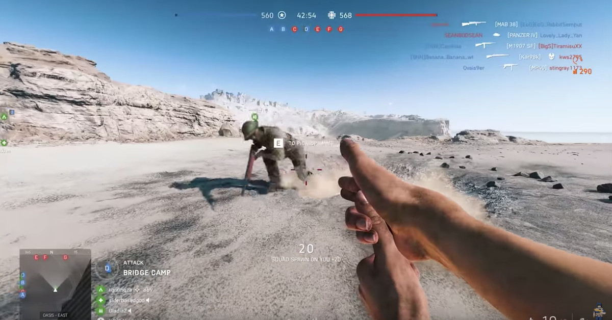 Battlefield 5's wacky Easter eggs: Finger guns and a stairway to heaven