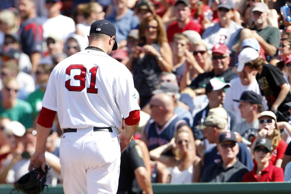 I'm sure that nice man in the stands was yelling words of encouragement at Jon Lester.
