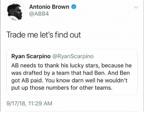 What We Know About The Drama Between Antonio Brown And The