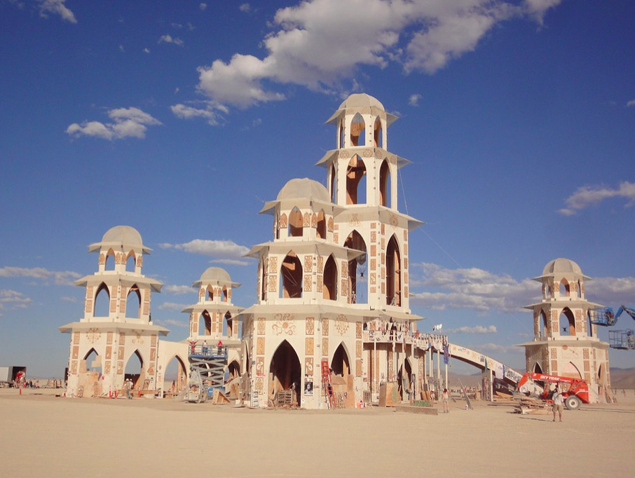 "A ""temple"" at Burning Man."