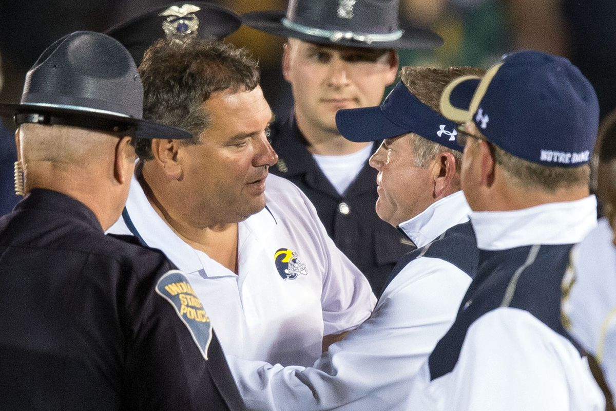 I like to envision this as Hoke being arrested.