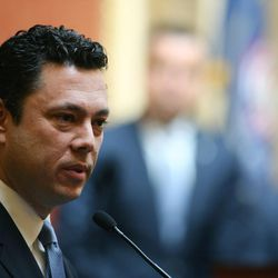 FILE: Rep. Jason Chaffetz addresses members of the House of Representative at the Capitol in Salt Lake City on Friday, Feb. 19, 2016.