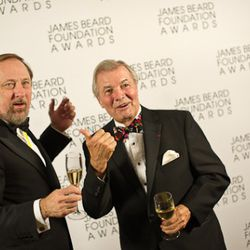 Ever the funny man, the legendary Jacques Pepin at right.<br /><br />photo copyright Daniel Krieger Photography LLC