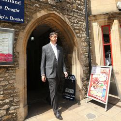 Utah Valley University President Matthew Holland visits one of his favorite book stores in Oxford, England, on June 14, 2017. Holland is on a sabbatical at Pembroke College, Oxford University.