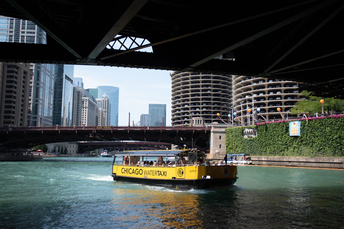 A water-taxi ride on the Chicago River downtown is a must for many.
