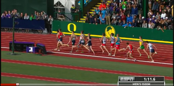 Men's 1500 meter race