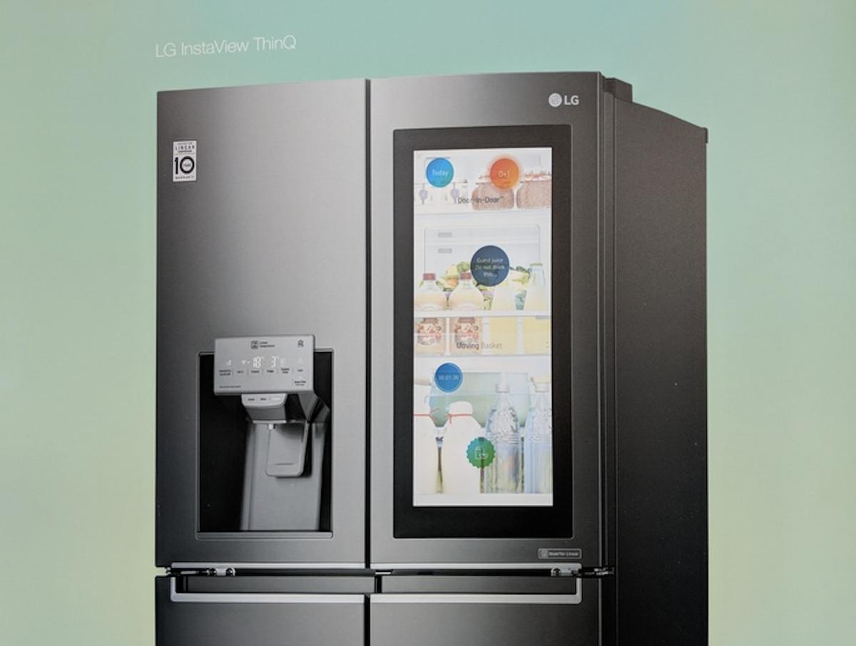 LG's smart fridge
