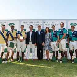 """<span class=""""credit"""">Photo by Dominic James</span></br> The polo players with the Duke of Argyll, Lord Frederick Windsor and Sophie Winkleman."""