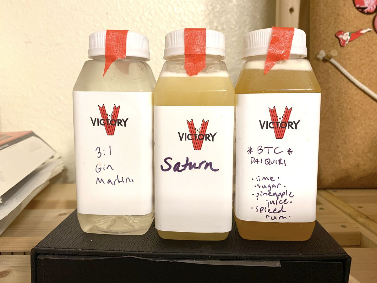 Bottled cocktails from Small Victory