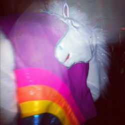 There were tons of unicorn appearances on clothing. This jacket was our favorite.