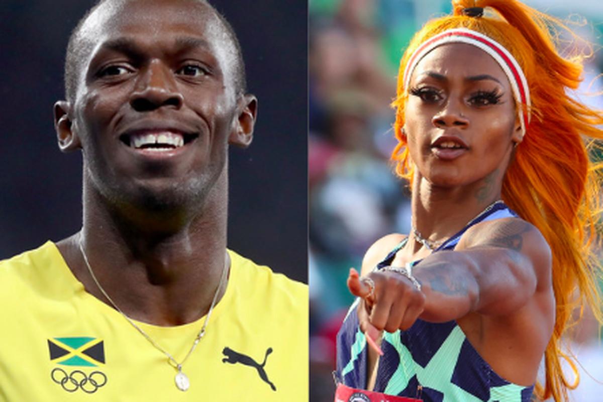Usain Bolt and Sha'Carri Richardson