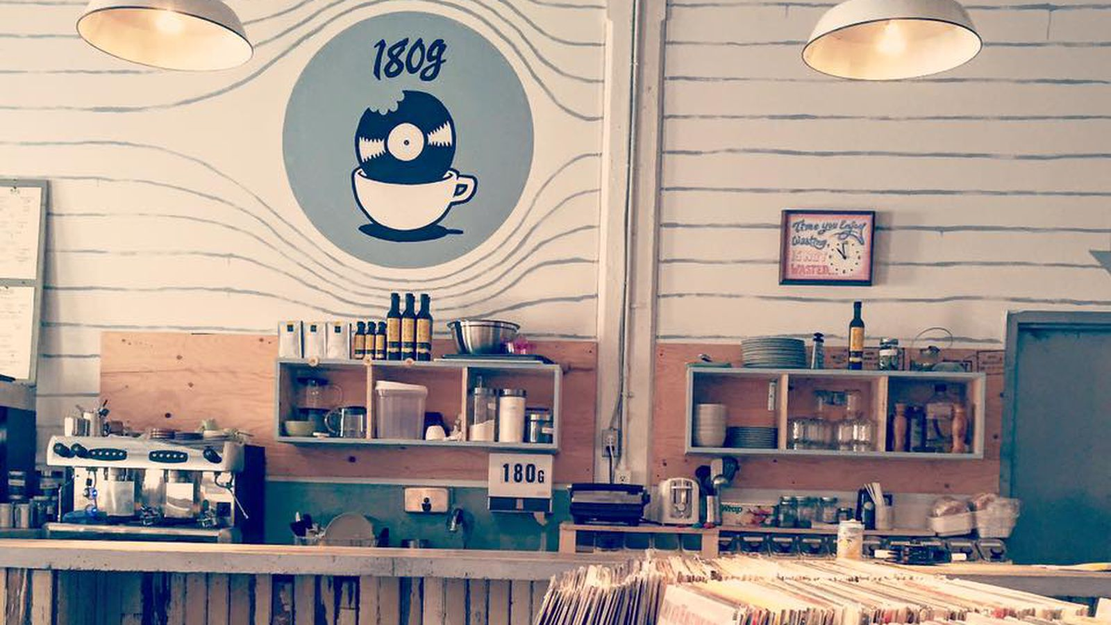 180g Gives Mile Ex Montreal Coffee Sandwiches And Vinyl