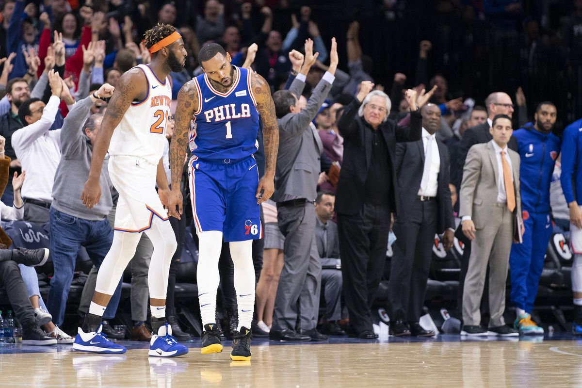 """76ers 109, Knicks 104: """"The vets have to trust the young guys"""""""