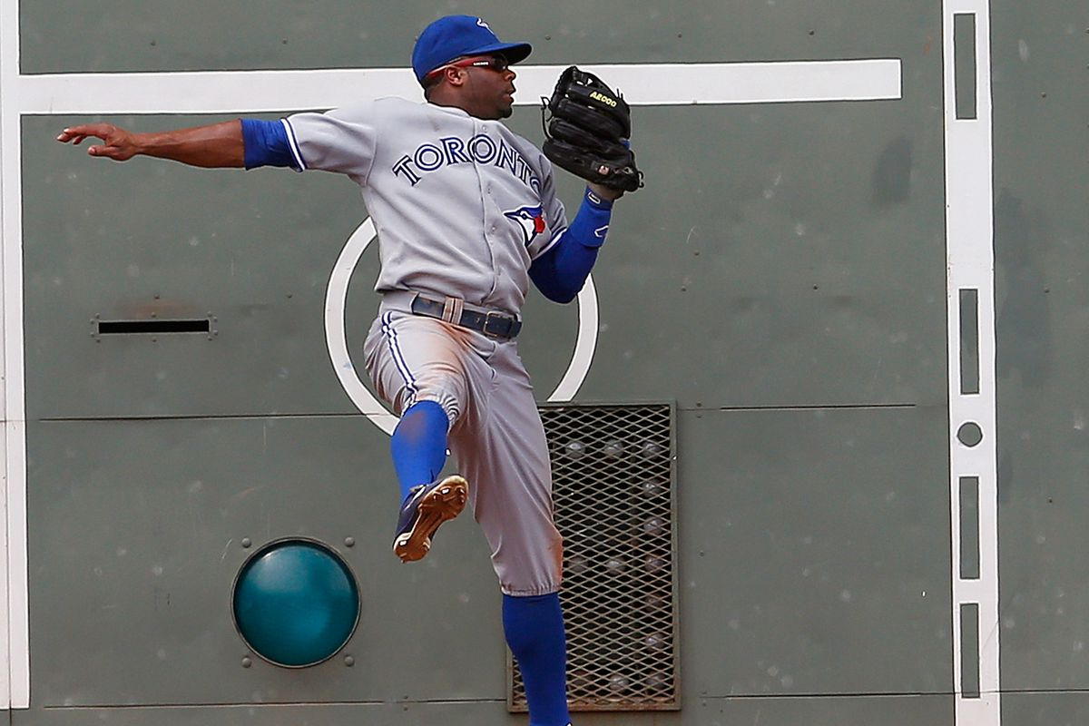 Rajai leaving another dent in the wall.