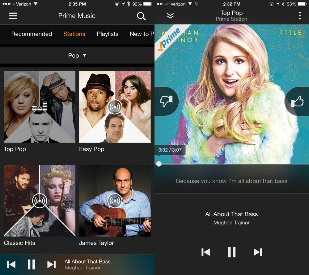 Amazon Prime Stations iOS