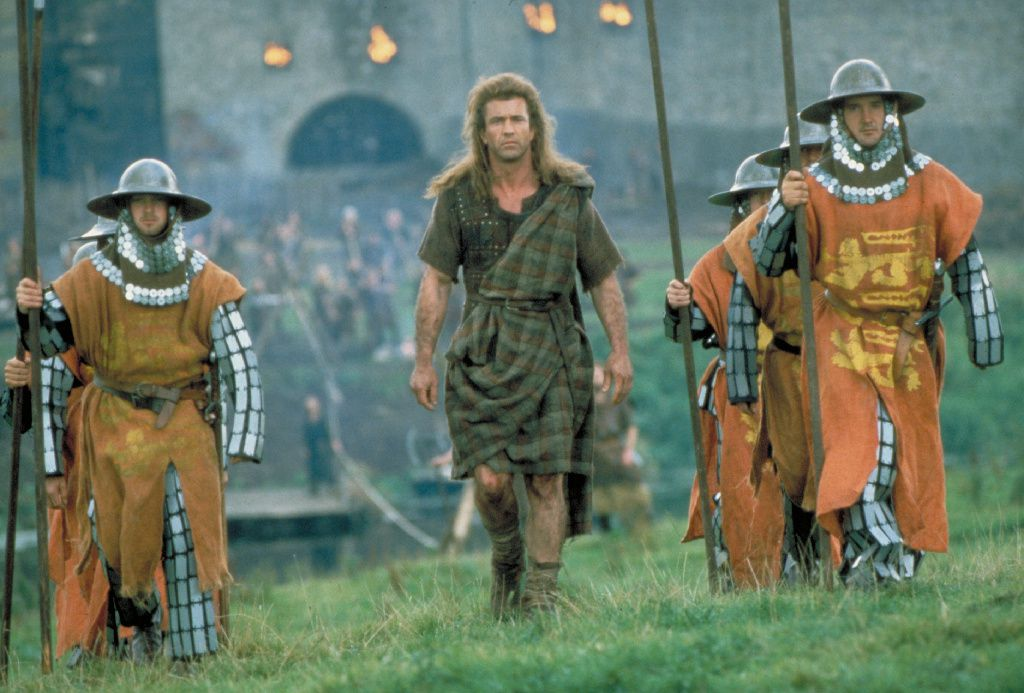 William Wallace walks with guards in Braveheart