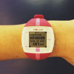 My favorite gym accessory, the <b>Polar</b> FT4 heart rate monitor. I love knowing my heart rate when I exercise, allowing me to train smarter and keep the intensity high throughout. Great tool for motivation and accountability. Plus, it feels like a game