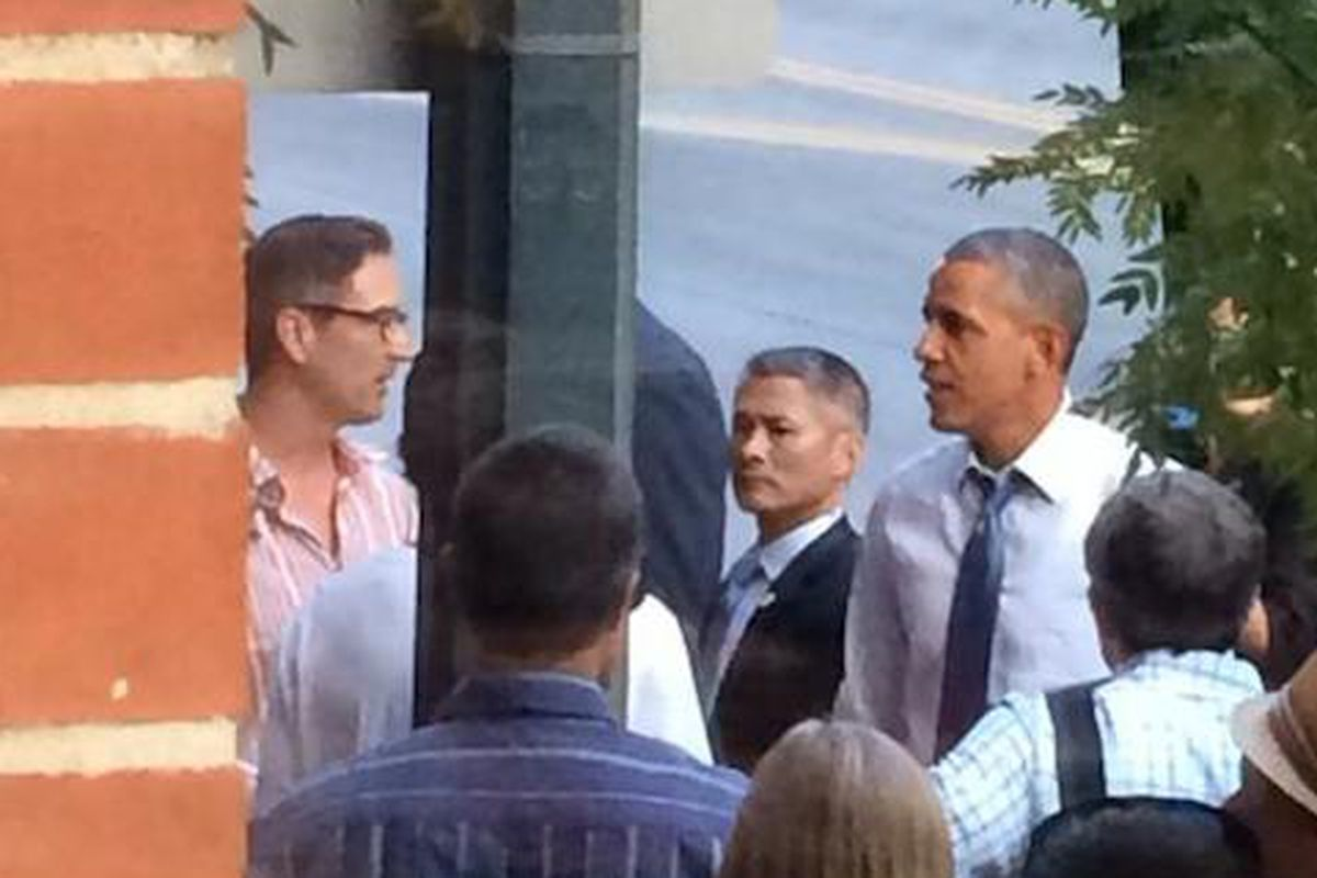 Johnny Ballen of the Squeaky Bean and President Barack Obama
