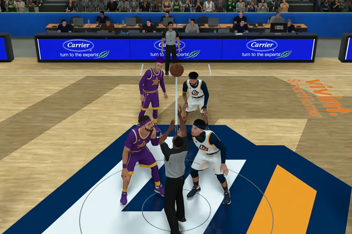 Jazz Gaming's on the court for the NBA 2K League championship.