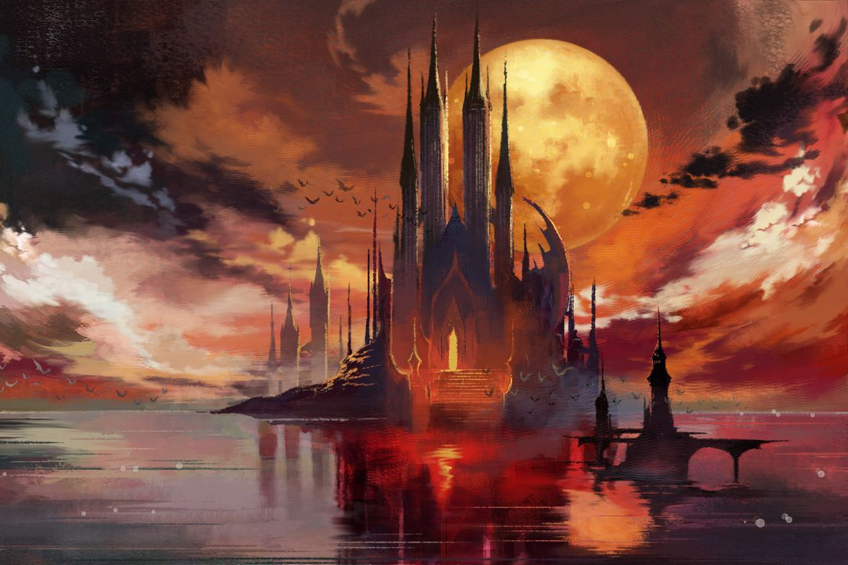 Bloodstained: Ritual of the Night sea castle artwork
